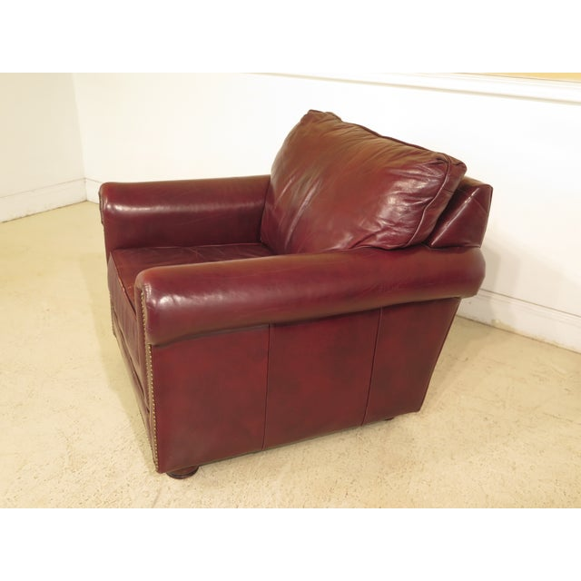 Burgundy Leather Club Chairs - A Pair - Image 6 of 13
