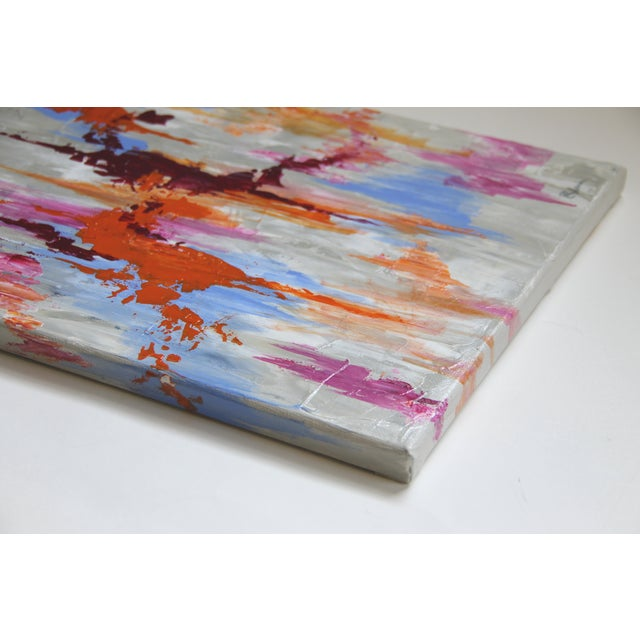 Abstract Textured Painting by C. Plowden - Image 3 of 3