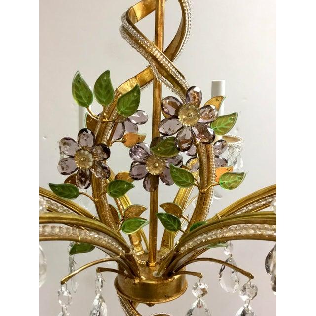 Original Retail $6204, elegant Myran Allen Luxury Lighting Traditional Italian Iron and Crystal Chandelier, delicate...