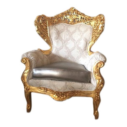 Antique Italian Rococo Style Chair For Sale
