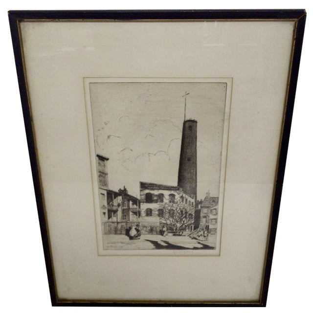 """""""Baltimore"""" Drawing by John McGrath, 1930 For Sale"""