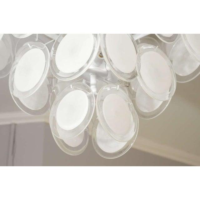 Modern Custom White Murano Disc Fixture For Sale - Image 3 of 6