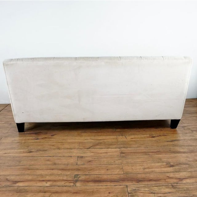 2010s Contemporary White Upholstered Button Tufted Sofa For Sale - Image 5 of 7