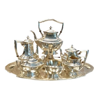 R. Wallace and Sons of Wallingford Circa 1940 American Sterling Tea Service - Set of 7 For Sale