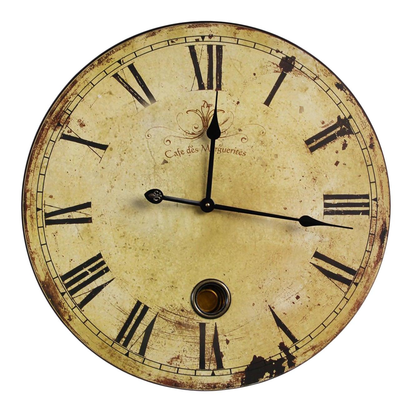 Vintage Style Wall Clock | Chairish