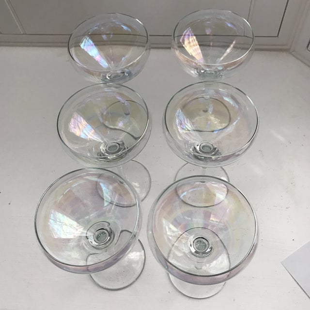 Opalescent Champagne Coupes - Set of 6 - Image 4 of 8