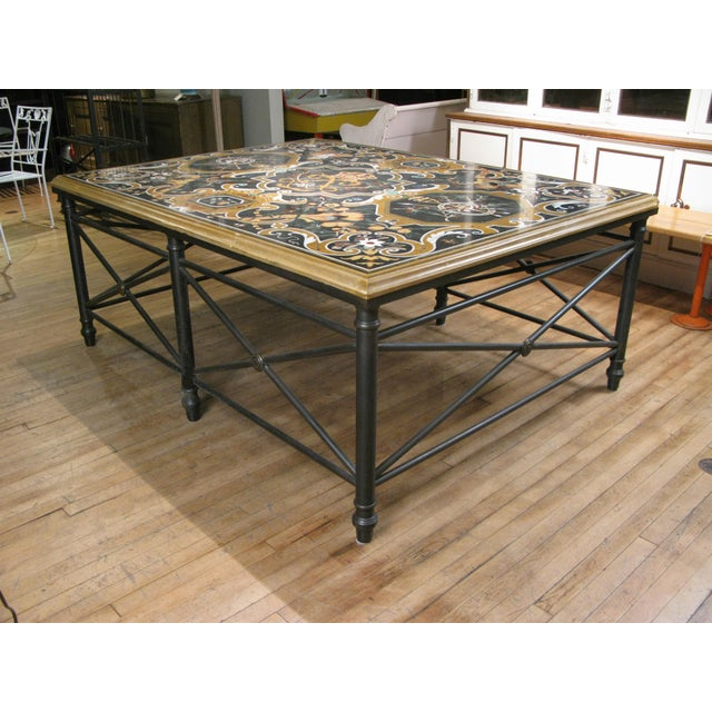 Late 20th Century Italian Pietra Dura Inlaid Stone Table For Sale - Image 5 of 9