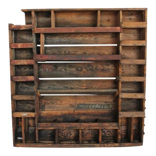 Antique American Folk Art Cubbies