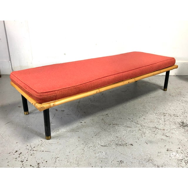 Mid Century Modern Ficks Reed Bamboo / Rattan Benches For Sale - Image 13 of 13