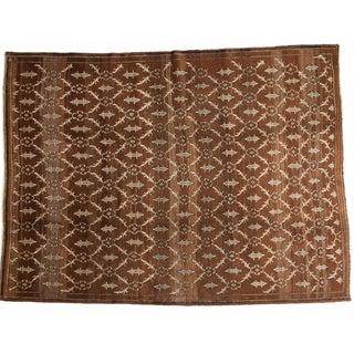Vintage Oushak Carpet - 7′2″ × 9′8″ For Sale
