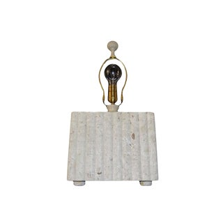 Vintage Tessellated Marble Table Lamp with Finial by Wildwood For Sale