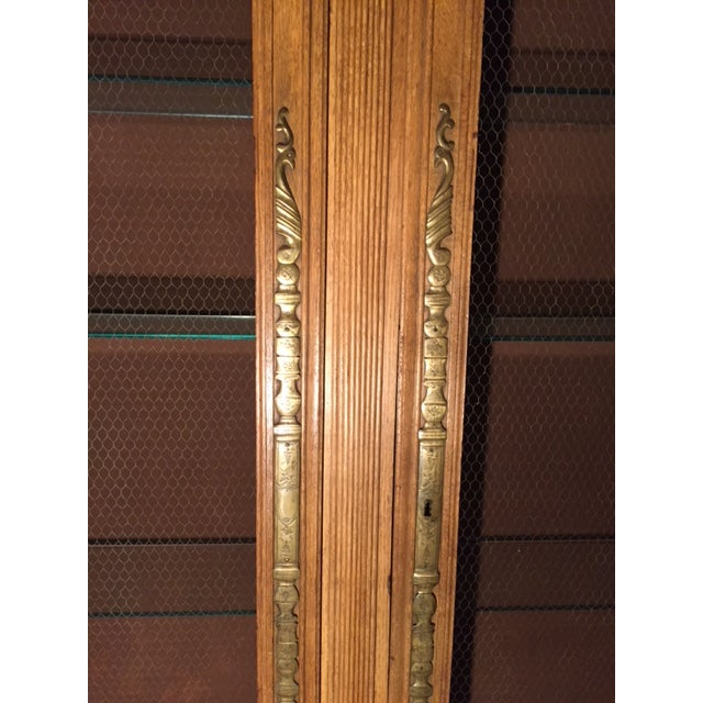 19th Century French Heavily Carved 2 Door Chicken Wire Vitrine Joanna Poitier