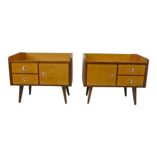 Danish Modern Rosewood Compact Nightstands - a Pair For Sale