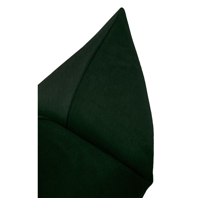 """22"""" Emerald Velvet Pillows - a Pair For Sale - Image 4 of 5"""