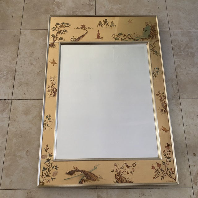 Gold Chinoiserie La Barge Mirror For Sale - Image 8 of 8