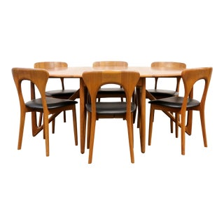 1960s Danish Modern Niels Koefoeds Dining Set - 7 Pieces For Sale