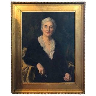 Portrait Painting of a Woman by Alphaeus Philemon Cole For Sale