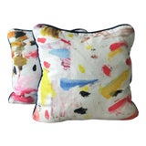 Image of Pierre Frey Arty Pillows - a Pair For Sale