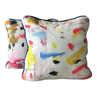 Pierre Frey Arty Pillows - a Pair For Sale