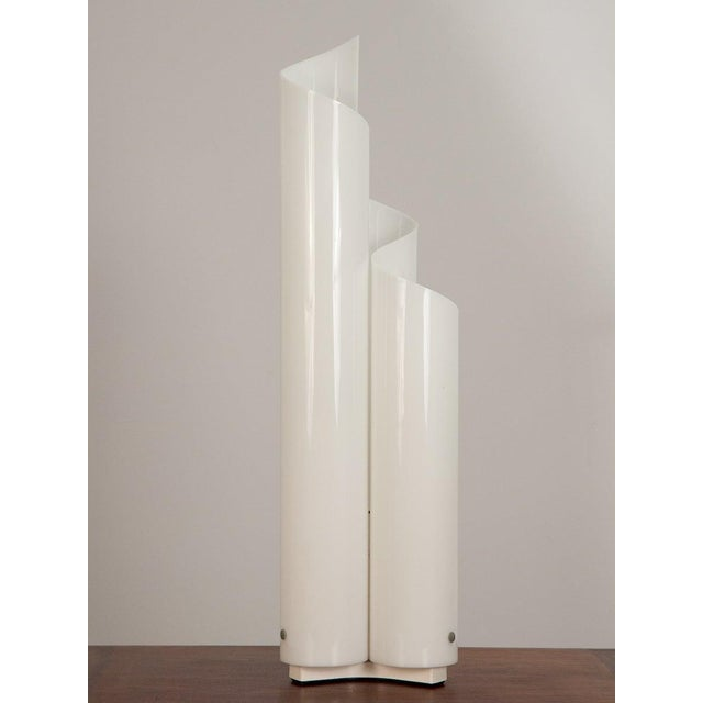 """Italian postmodern table lamp nicknamed the """"Mezzachimera"""", designed by Vico Magistretti for Artemide. This table lamp is..."""
