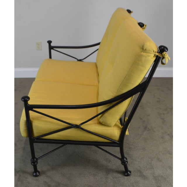 Metal Giacometti Style Patio Love Seat by Winston For Sale - Image 7 of 13