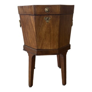 19th Century Mahogany Footed Wine Cooler For Sale