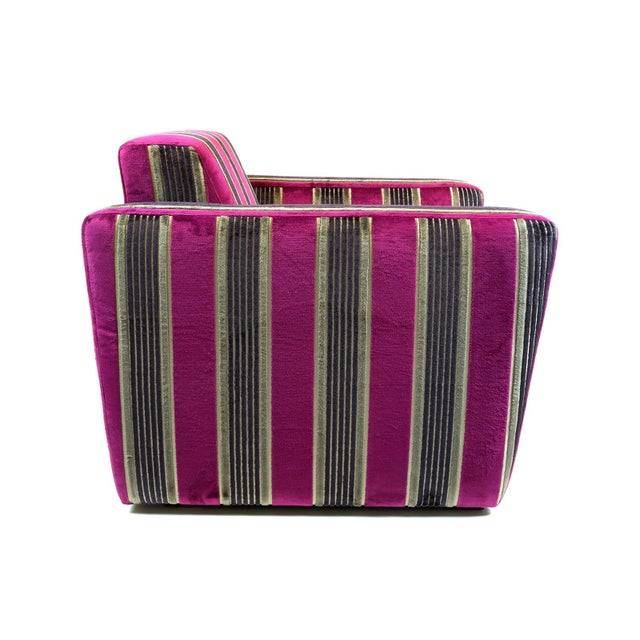 British Airways First Class Striped Club Chair - Image 3 of 10