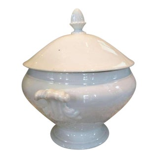 19th Century Acanthus Handled French Tureen With Lid For Sale