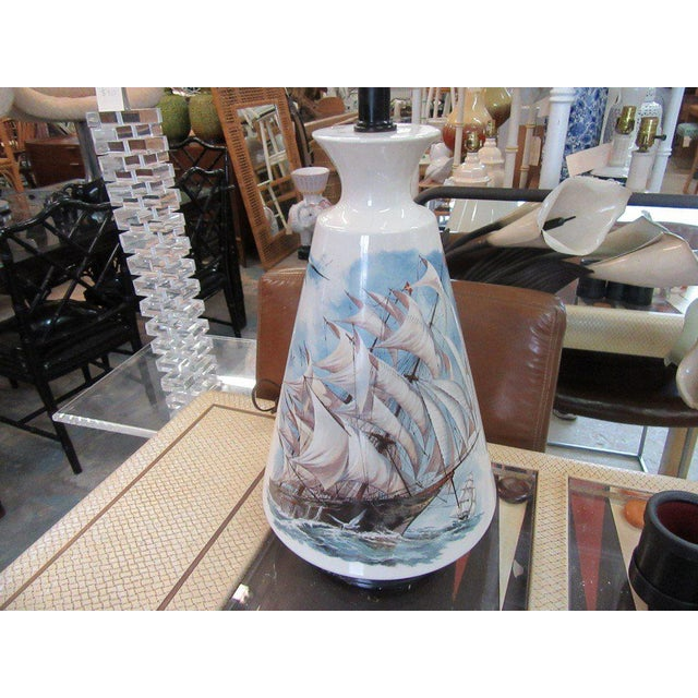 Hand Painted Ship Lamp - Image 2 of 9