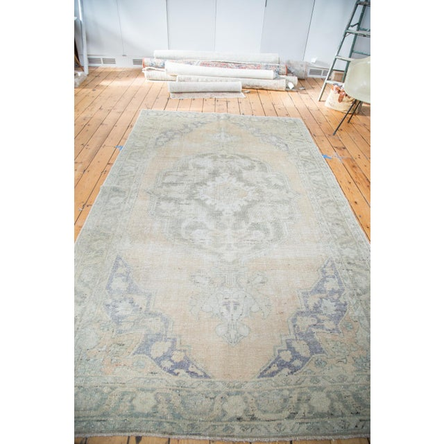 "Peach Distressed Oushak Carpet - 5'9"" x 9'6"" - Image 4 of 8"