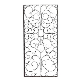 Set of 5 American Victorian iron gates with scroll design