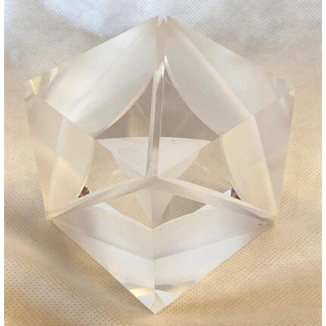 Abstract 1970s Italian Alessio Tasca Lucite Cube For Sale - Image 3 of 13