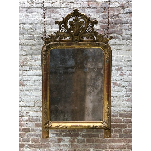 Gold Leaf 19th Century Mirror For Sale - Image 7 of 8