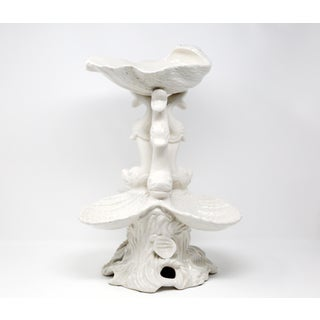 Vintage Italian Blanc De Chine Foo Dolphin and Shell Epergne Preview