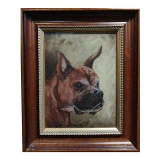Boxer Dog -Impressionist -beautiful oil painting