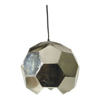 1970s Danish Modern Silver Pendant Lamp For Sale