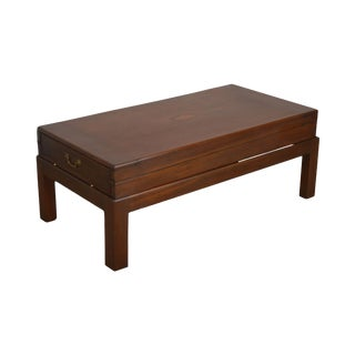 Coffee Table Made From Antique Mahogany Bagatelle Game Box on Recent Wood Frame For Sale
