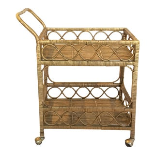 Regency Rattan Bar Cart