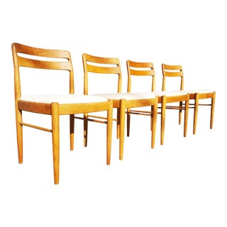 Danish Mid Century Modern Dining Chairs by h.w. Klein for Bramin Møbler, 1960s,- Set of 4 For Sale