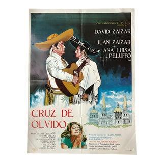 Original Vintage Cruz De Olvido Movie Poster For Sale