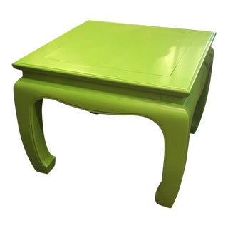 Hollywood Regency - Ming Square Side Table With Painted Finish.