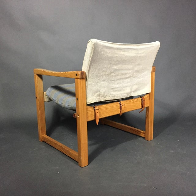 "Karin Mobring ""Diana"" Armchair, Pine & Canvas, Sweden 1970s For Sale In New York - Image 6 of 12"