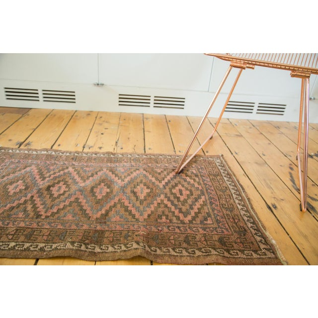 "Afghan Vintage Afghani Rug - 2' x 3'3"" For Sale - Image 3 of 6"