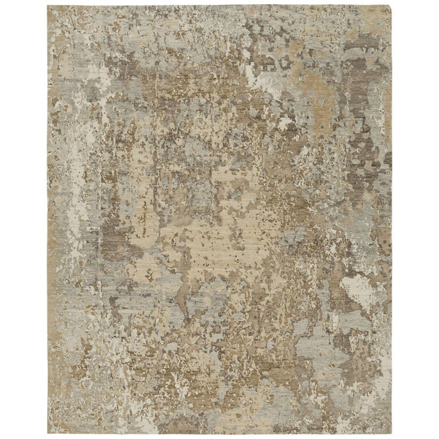 From our Earth Elements Collection, this handmade Tibetan rug can be customized in color, shape and size upon request....