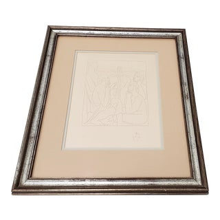"Pablo Picasso ""Nestor's Tales of the Trojan War"" Etching Posthumous Restrike C.1974 For Sale"