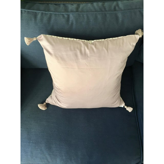"""Professionally sewn, brand new, unused custom 22x22 pillow cover in Lee Jofa's """"Little Leaf"""" cotton fabric in a beautiful..."""