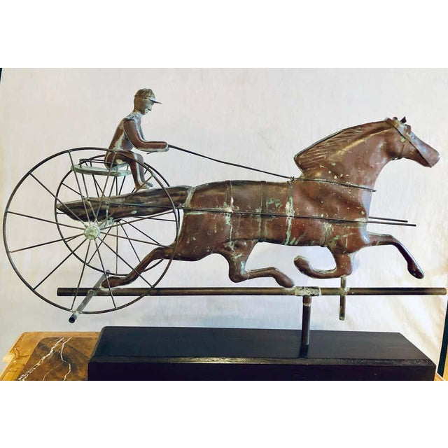 St. Julien Weather Vane Attributed to j.w. Fiske 19th Century Full Bodied Metal For Sale - Image 11 of 12