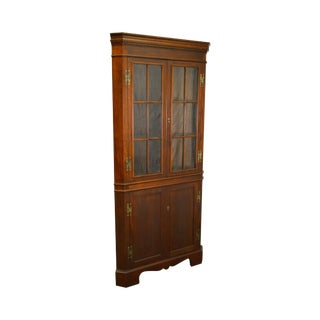 Craftique Solid Mahogany Chippendale Style Corner Cabinet For Sale