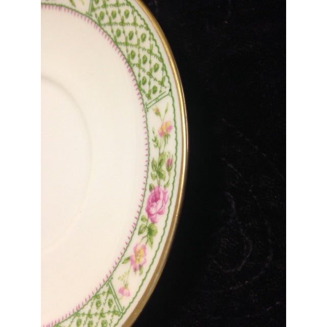 Vintage C. Ahrenfeldt Limoges France Depose Saucer - Image 6 of 6