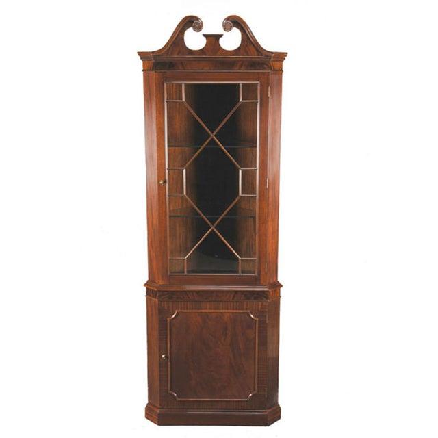 Brown Niagara Furniture Mahogany Corner Cabinet For Sale - Image 8 of 8